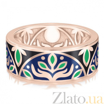 Мужское обручальное кольцо Талисман Веры с эмалью 2927
