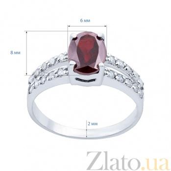 Серебряное кольцо с гранатом Эвита AQA--R01287G