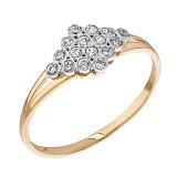 Золотое кольцо с цирконием Созвездие