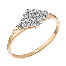 Кольцо из красного золота с фианитами 000003961