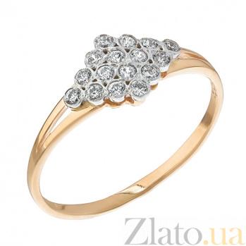 Золотое кольцо с цирконием Созвездие 11415