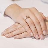Золотое кольцо с бриллиантом Весенняя роза