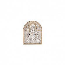 Икона серебряная с позолотой Владимирская