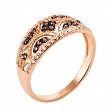Кольцо в красном золоте Памела с фианитами