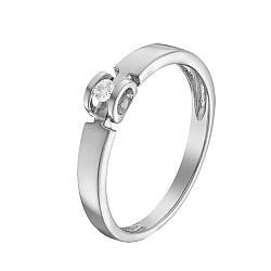 Кольцо в белом золоте Ожидание чуда с бриллиантом