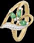 Кольцо из серебра с цирконием Аллегория 000025563