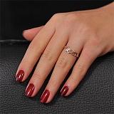 Золотое кольцо Ирис с фианитами