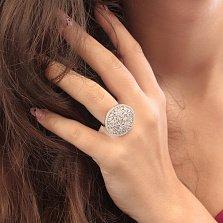 Серебряное кольцо Волшебный момент с цветами и белыми фианитами