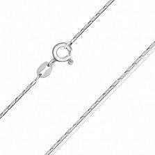 Серебряная цепь Монтерей с родированием, 55 см