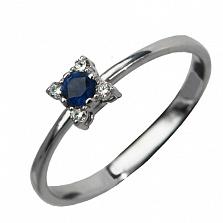 Золотое кольцо с сапфиром Кристинэ