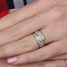 Кольцо из белого золота с бриллиантами Соблазн