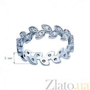 Кольцо серебряное с фианитами Лавр AQA--10075