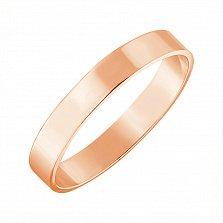 Золотое обручальное кольцо Модная классика в красном цвете