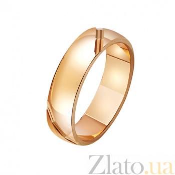 Обручальное кольцо из красного золота Благородство чувств TRF--411523