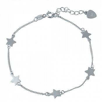 Серебряный браслет Звездочет на ногу с дополнительными звеньями