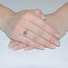 Золотое кольцо с бриллиантом цвета шампань Noa