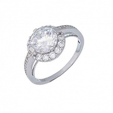 Серебряное кольцо с цирконом на помолвку