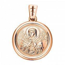 Ладанка из красного золота Божья Матерь Семистрельная 000103908