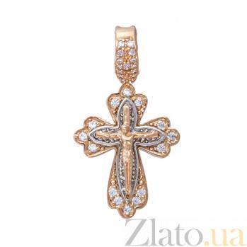 Золотой крестик с фианитами Спасение TNG--270053