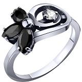 Серебряное кольцо с фианитами Джемма