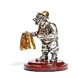 Серебряная статуэтка Парикмахер