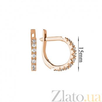 Серьги в красном золоте Анита с бриллиантами 000079353