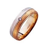 Золотое обручальное кольцо Драгоценная пара с фианитом