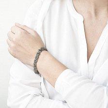 Серебряный браслет Августа с чернением