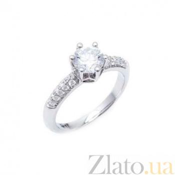 Серебряное кольцо на помолвку AQA--JR-3134