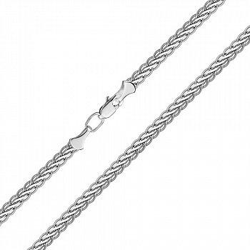 Серебряный браслет в плетении колосок, 3,5мм 000113860