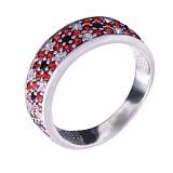 Серебряное кольцо-вышиванка Идилия любви