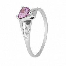 Серебряное кольцо с фиолетовым цирконием Страстная любовь