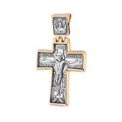 Серебряный крест с позолотой и чернением 000036259