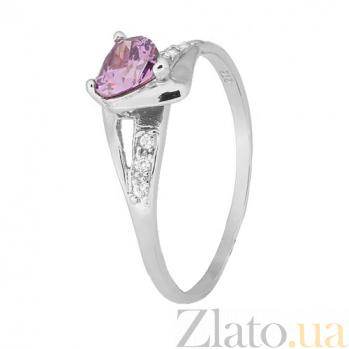 Серебряное кольцо с фиолетовым цирконием Страстная любовь 000028126