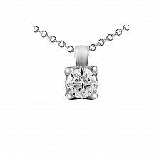 Кулон из белого золота Аквартис с бриллиантом