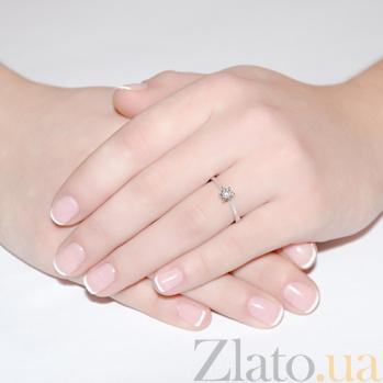 Кольцо из белого золота с бриллиантом Nefertiti R0590