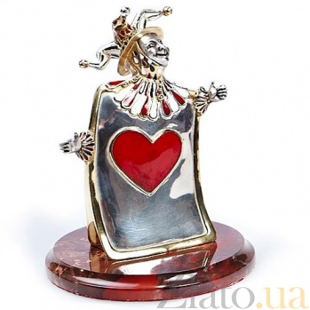Серебряная статуэтка Карта Чирва 347/к