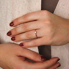Золотое помолвочное кольцо Одетта с цирконием