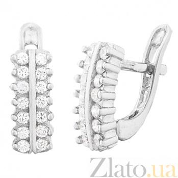 Серебряные сережки с цирконием Авива SLX--С2Ф/344
