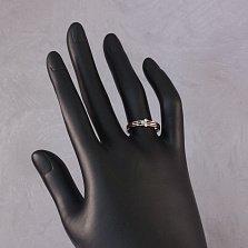 Кольцо из красного золота Вияра с лейкосапфирами