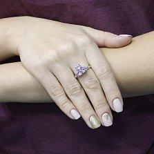 Серебряное кольцо Ольга с аметистом