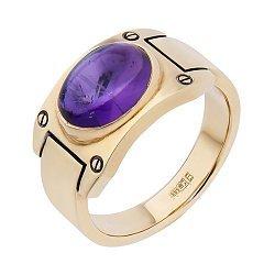 Золотое кольцо с аметистом 000052121