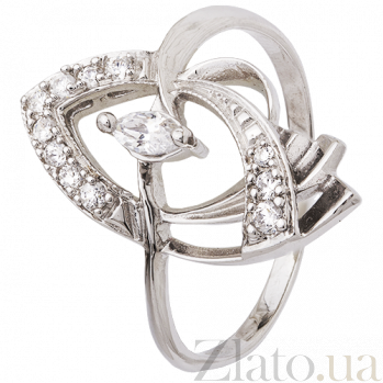Серебряное кольцо с фианитами Дайона 000025788