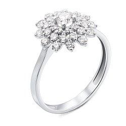 Кольцо из белого золота с бриллиантами 000137214