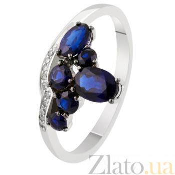 Золотое кольцо с сапфирами и бриллиантами Незнакомка KBL--К1882/бел/сапф