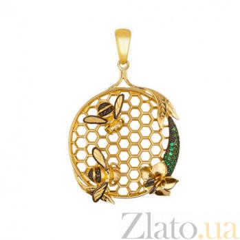Подвеска Пара пчел из желтого золота VLT--Т3416-1