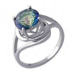 Серебряное кольцо с мистик топазом 000128356