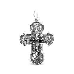 Серебряный крестик Царь Славы  000067001