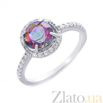 Серебряное кольцо с натуральным мистик топазом Электра AQA--R01294MT