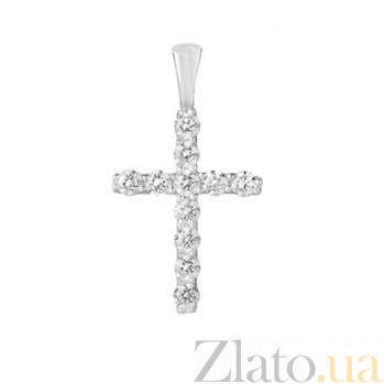 Серебряный кулон-крестик Имидж/ родированый 3287р
